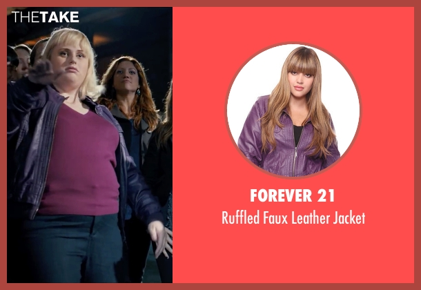 Forever 21 purple jacket from Pitch Perfect seen with Rebel Wilson (Fat Amy)