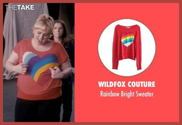 Wildfox Couture red sweater from Pitch Perfect seen with Rebel Wilson (Fat Amy)