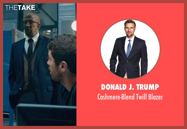 Donald J. Trump blue blazer from Fantastic Four seen with Reg E. Cathey (Dr. Franklin Storm)