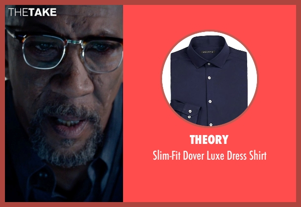 Theory blue shirt from Fantastic Four seen with Reg E. Cathey (Dr. Franklin Storm)