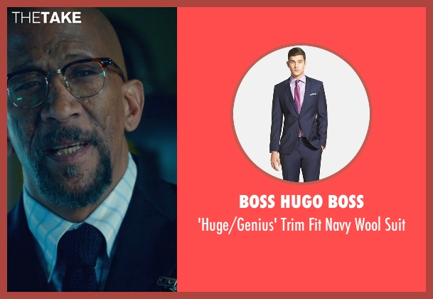 Boss Hugo Boss blue suit from Fantastic Four seen with Reg E. Cathey (Dr. Franklin Storm)