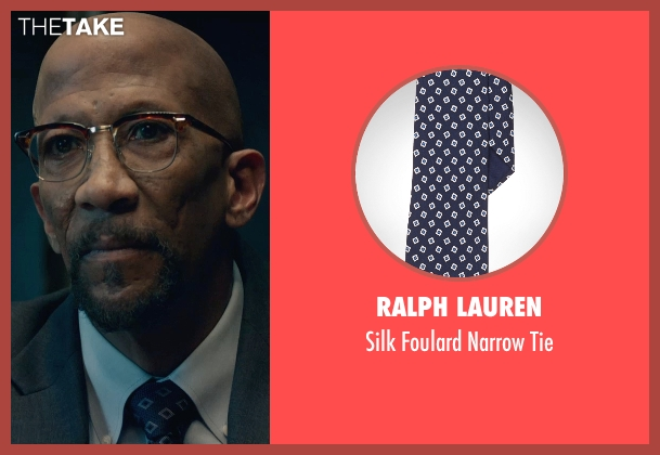 Ralph Lauren blue tie from Fantastic Four seen with Reg E. Cathey (Dr. Franklin Storm)