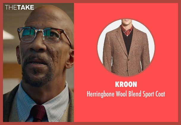Kroon brown coat from Fantastic Four seen with Reg E. Cathey (Dr. Franklin Storm)