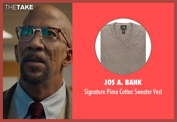 Jos A. Bank brown vest from Fantastic Four seen with Reg E. Cathey (Dr. Franklin Storm)