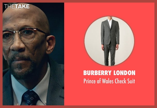 Burberry London gray suit from Fantastic Four seen with Reg E. Cathey (Dr. Franklin Storm)