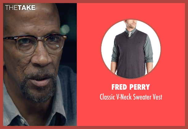 Fred Perry gray vest from Fantastic Four seen with Reg E. Cathey (Dr. Franklin Storm)