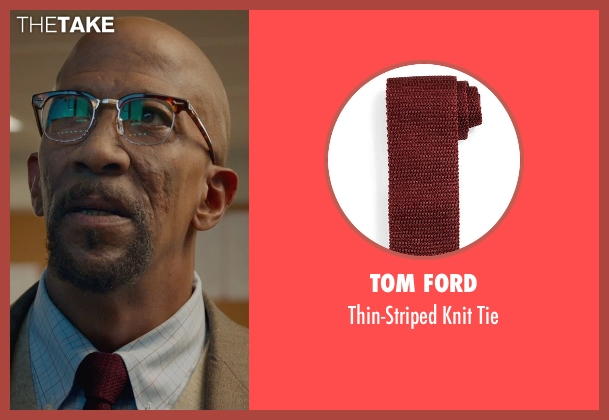 Tom Ford red tie from Fantastic Four seen with Reg E. Cathey (Dr. Franklin Storm)
