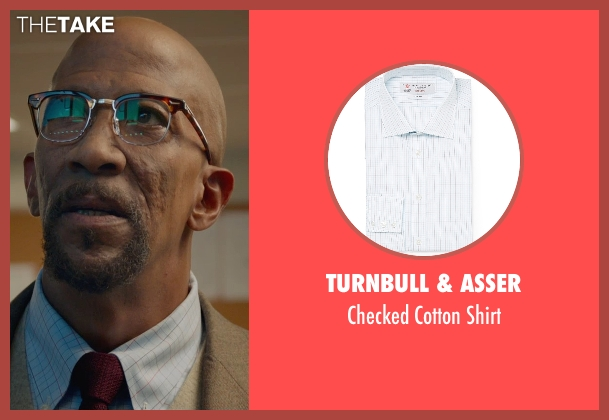 Turnbull & Asser white shirt from Fantastic Four seen with Reg E. Cathey (Dr. Franklin Storm)