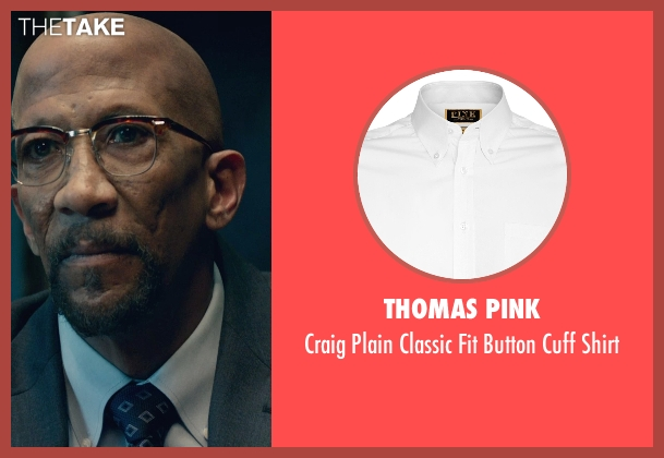 Thomas Pink white shirt from Fantastic Four seen with Reg E. Cathey (Dr. Franklin Storm)