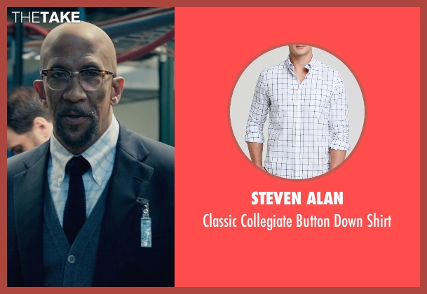 Steven Alan white shirt from Fantastic Four seen with Reg E. Cathey (Dr. Franklin Storm)
