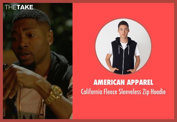 American Apparel black hoodie from Ballers seen with Reggie (London Brown)