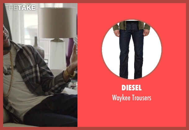 Diesel blue trousers from Ballers seen with Reggie (London Brown)