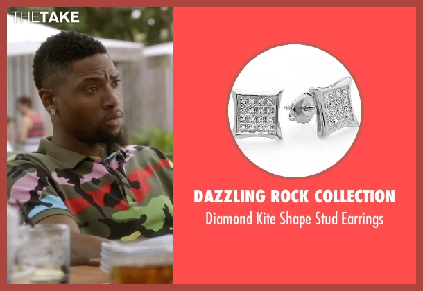 Dazzling Rock Collection earrings from Ballers seen with Reggie (London Brown)
