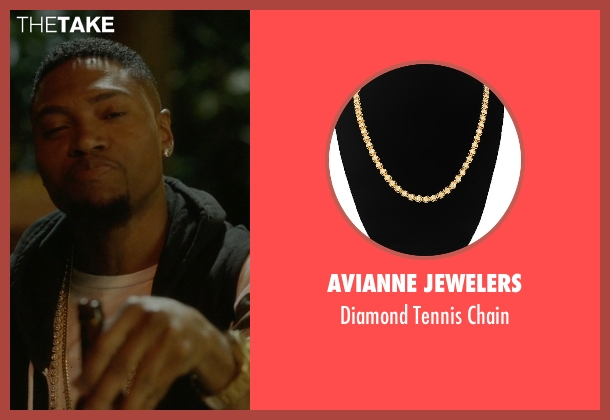 Avianne Jewelers gold chain from Ballers seen with Reggie (London Brown)