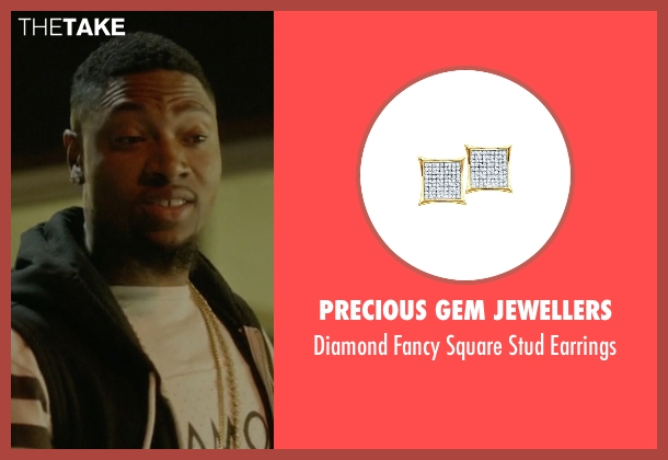 Precious Gem Jewellers gold earrings from Ballers seen with Reggie (London Brown)
