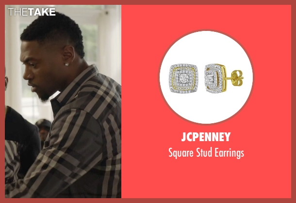JCPenney gold earrings from Ballers seen with Reggie (London Brown)