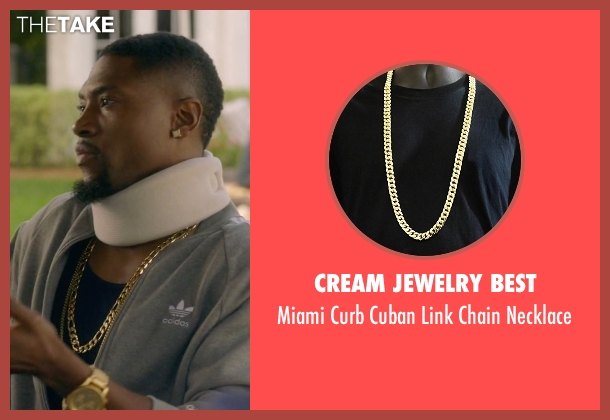 Cream Jewelry Best gold necklace from Ballers seen with Reggie (London Brown)