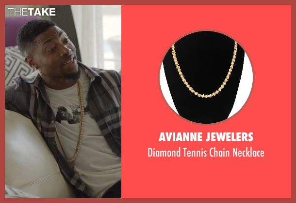Avianne Jewelers gold necklace from Ballers seen with Reggie (London Brown)