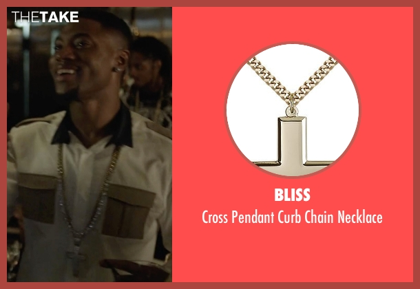 Bliss gold necklace from Ballers seen with Reggie (London Brown)