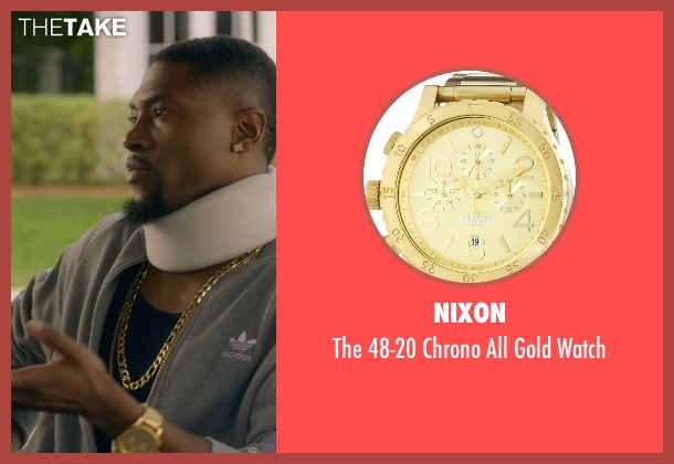 Nixon gold watch from Ballers seen with Reggie (London Brown)