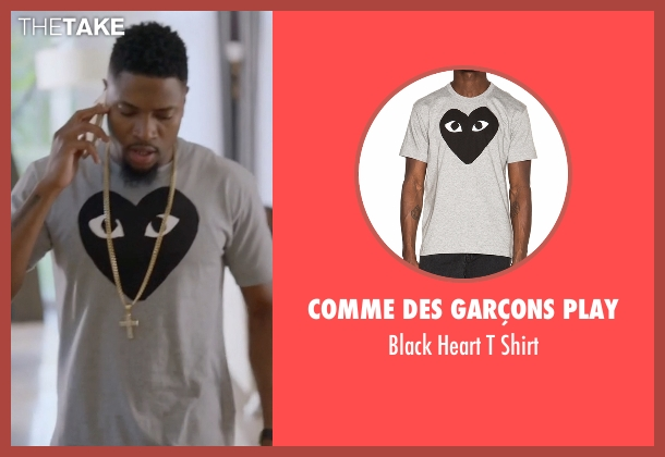 Comme des Garçons Play  gray shirt from Ballers seen with Reggie (London Brown)