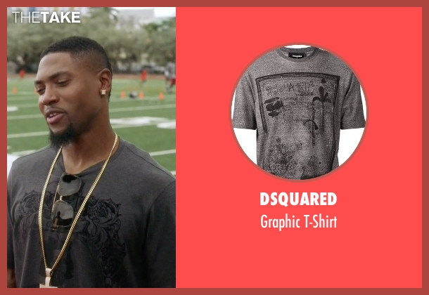 Dsquared gray t-shirt from Ballers seen with Reggie (London Brown)