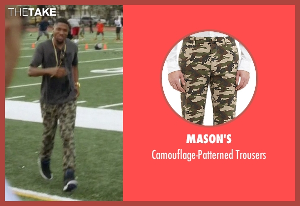 Mason's green trousers from Ballers seen with Reggie (London Brown)