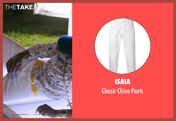 Isaia white pants from Ballers seen with Reggie (London Brown)