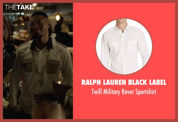 Ralph Lauren Black Label white sportshirt from Ballers seen with Reggie (London Brown)