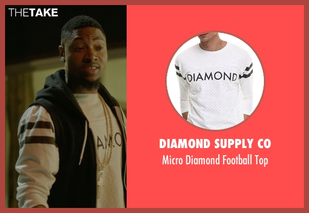 Diamond Supply Co white top from Ballers seen with Reggie (London Brown)