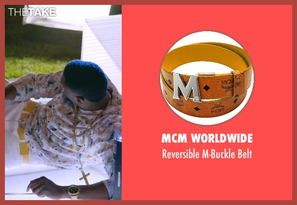 MCM Worldwide yellow belt from Ballers seen with Reggie (London Brown)