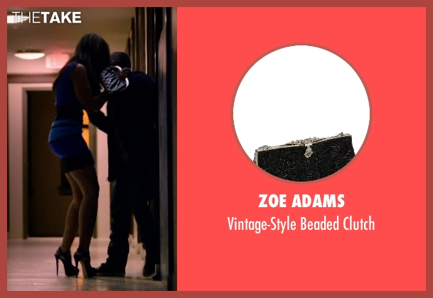 ZOE ADAMS black clutch from About Last Night seen with Regina Hall (Joan)
