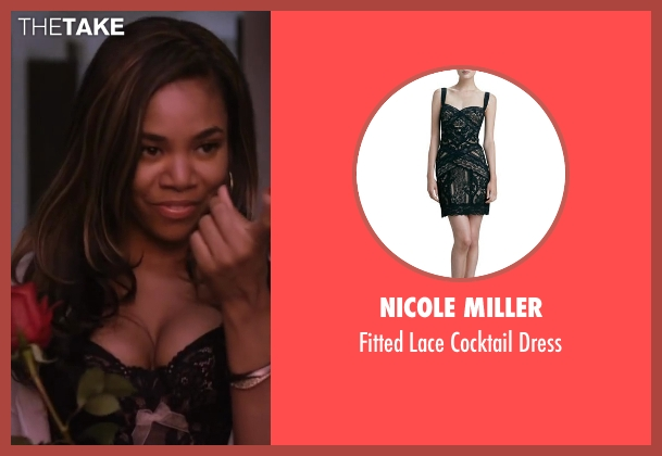 Nicole Miller black dress from About Last Night seen with Regina Hall (Joan)