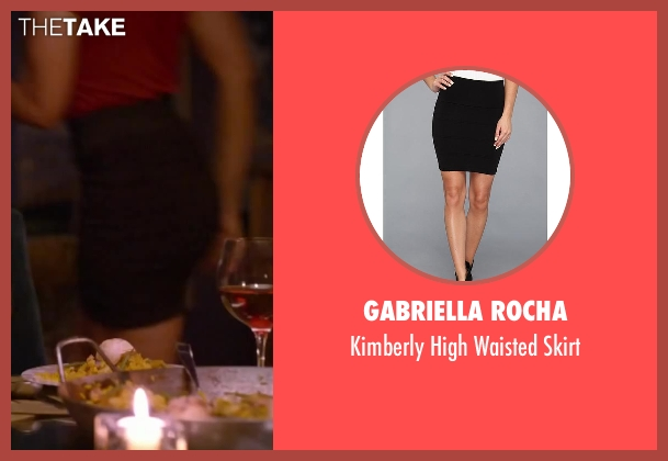 Gabriella Rocha black skirt from About Last Night seen with Regina Hall (Joan)