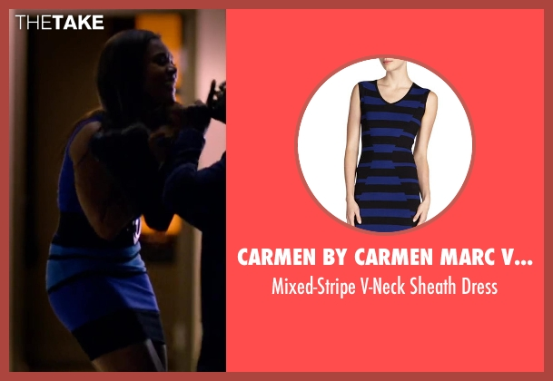 Carmen by Carmen Marc Valvo blue dress from About Last Night seen with Regina Hall (Joan)