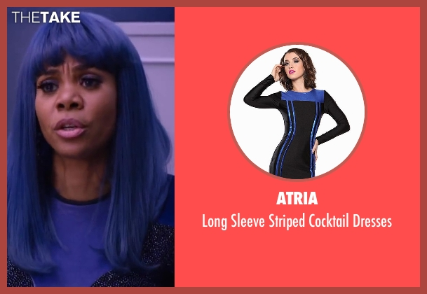 Atria blue dresses from About Last Night seen with Regina Hall (Joan)