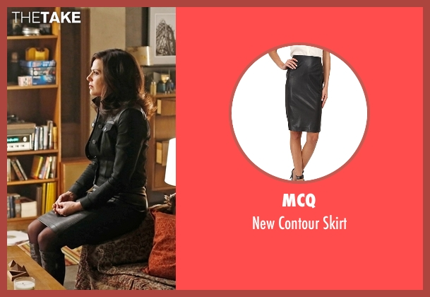 McQ  black skirt from Once Upon a Time seen with Regina Mills (Lana Parrilla)