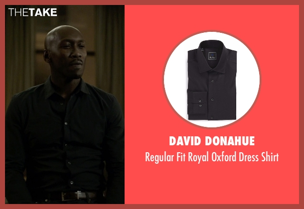 David Donahue black shirt from House of Cards seen with Remy Danton (Mahershala Ali)