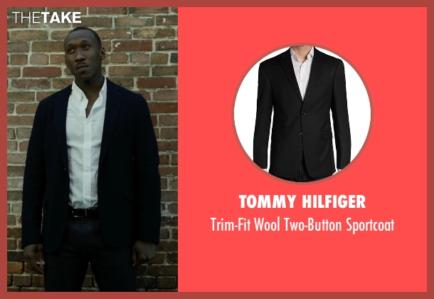 Tommy Hilfiger black sportcoat from House of Cards seen with Remy Danton (Mahershala Ali)