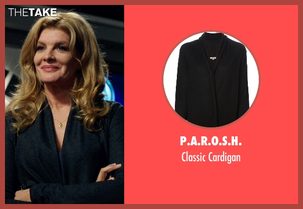 P.A.R.O.S.H. black cardigan from Nightcrawler seen with Rene Russo (Nina Romina)