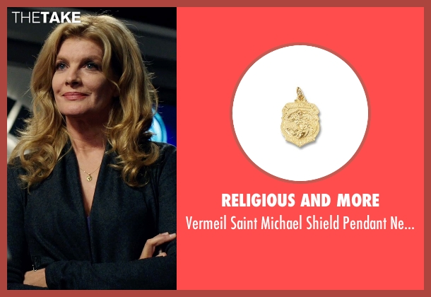 Religious And More yellow necklace from Nightcrawler seen with Rene Russo (Nina Romina)