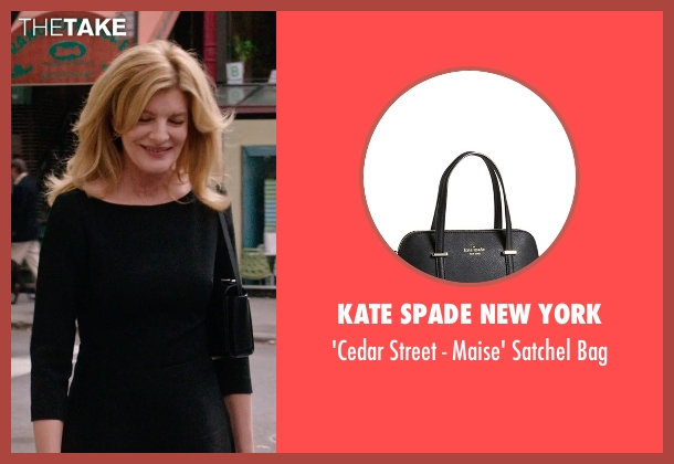 Kate Spade New York black bag from The Intern seen with Rene Russo (Unknown Character)