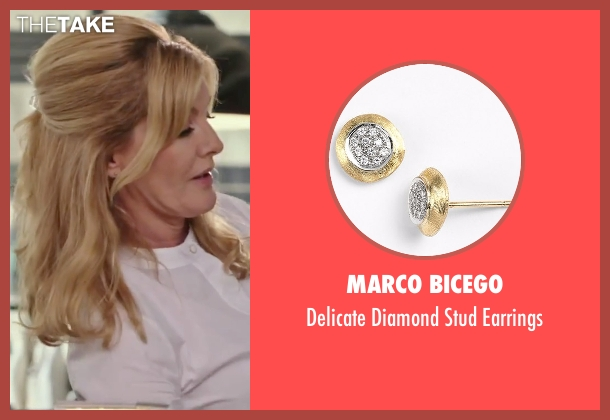 Marco Bicego gold earrings from The Intern seen with Rene Russo (Fiona)