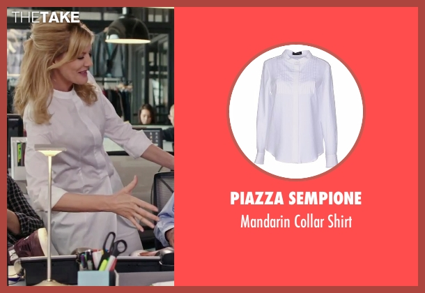 Piazza Sempione white shirt from The Intern seen with Rene Russo (Unknown Character)