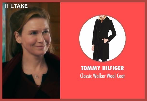 Tommy Hilfiger black coat from Bridget Jones's Baby seen with Renée Zellweger (Bridget Jones)
