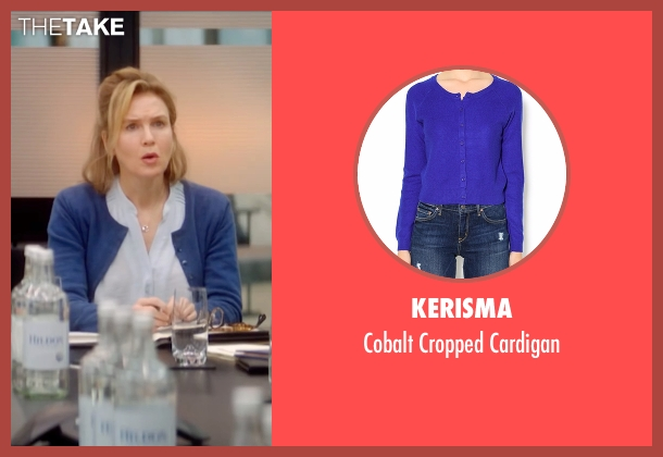 Kerisma blue cardigan from Bridget Jones's Baby seen with Renée Zellweger (Bridget Jones)