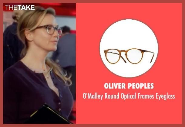 Oliver Peoples brown eyeglass from Bridget Jones's Baby seen with Renée Zellweger (Bridget Jones)