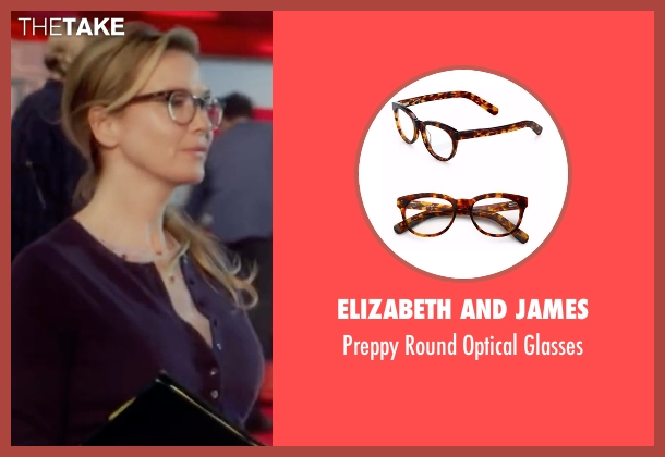 Elizabeth and James brown glasses from Bridget Jones's Baby seen with Renée Zellweger (Bridget Jones)