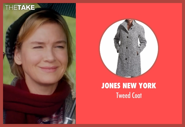 Jones New York gray coat from Bridget Jones's Baby seen with Renée Zellweger (Bridget Jones)