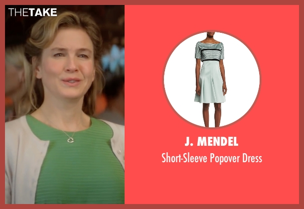 J. Mendel green dress from Bridget Jones's Baby seen with Renée Zellweger (Bridget Jones)